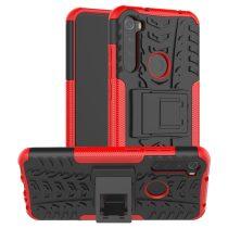 RMPACK Xiaomi Redmi Note 8T Ütésálló Tok Kitámasztható 2in1 Hybrid Piros