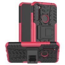 RMPACK Xiaomi Redmi Note 8T Ütésálló Tok Kitámasztható 2in1 Hybrid Pink