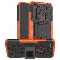 RMPACK Xiaomi Redmi Note 8T Ütésálló Tok Kitámasztható 2in1 Hybrid Narancssárga