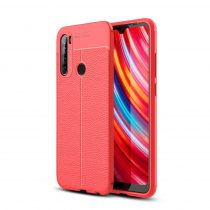 RMPACK Xiaomi Redmi Note 8T Szilikon Tok Bőrmintázattal TPU Prémium Piros