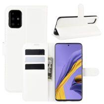 RMPACK Samsung Galaxy A51 Notesz Tok Business Series Kitámasztható Bankkártyatartóval Fehér