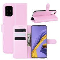 RMPACK Samsung Galaxy A51 Notesz Tok Business Series Kitámasztható Bankkártyatartóval Rózsaszín