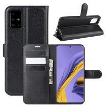RMPACK Samsung Galaxy A51 Notesz Tok Business Series Kitámasztható Bankkártyatartóval Fekete