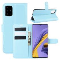 RMPACK Samsung Galaxy A51 Notesz Tok Business Series Kitámasztható Bankkártyatartóval Világoskék