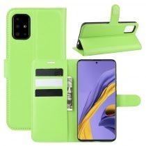 RMPACK Samsung Galaxy A51 Notesz Tok Business Series Kitámasztható Bankkártyatartóval Zöld