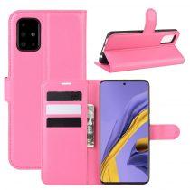 RMPACK Samsung Galaxy A51 Notesz Tok Business Series Kitámasztható Bankkártyatartóval Pink
