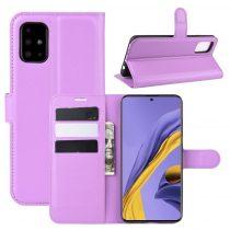 RMPACK Samsung Galaxy A51 Notesz Tok Business Series Kitámasztható Bankkártyatartóval Lila