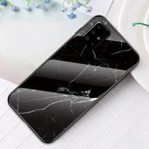 RMPACK Samsung Galaxy A51 Tok Fashion Ütésálló Márvány Mintás + Tempered Glass Hátlapi Üveg A02