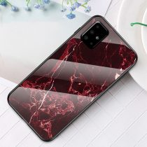 RMPACK Samsung Galaxy A51 Tok Fashion Ütésálló Márvány Mintás + Tempered Glass Hátlapi Üveg A04