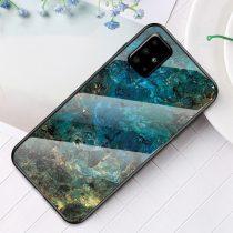 RMPACK Samsung Galaxy A51 Tok Fashion Ütésálló Márvány Mintás + Tempered Glass Hátlapi Üveg A06