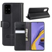 RMPACK Samsung Galaxy A51 Bőrtok Notesz Kártyatartóval Kitámasztható Fekete