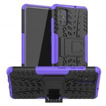 RMPACK Samsung Galaxy A51 Ütésálló Tok Kitámasztható 2in1 Hybrid Lila