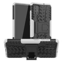 RMPACK Samsung Galaxy A51 Ütésálló Tok Kitámasztható 2in1 Hybrid Fehér