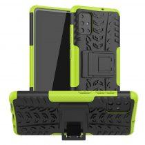 RMPACK Samsung Galaxy A51 Ütésálló Tok Kitámasztható 2in1 Hybrid Zöld