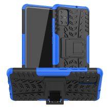 RMPACK Samsung Galaxy A51 Ütésálló Tok Kitámasztható 2in1 Hybrid Kék