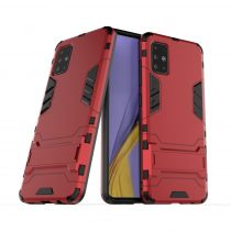RMPACK Samsung Galaxy A51 2in1 Tok Ütésálló - Kitámasztható TPU Hybrid Piros