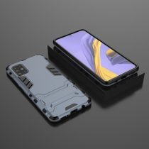 RMPACK Samsung Galaxy A51 2in1 Tok Ütésálló - Kitámasztható TPU Hybrid Sötétkék