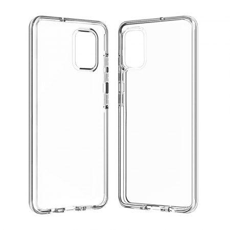 RMPACK Samsung Galaxy A51 Hátlapi Dupla Szilikon-Műanyag Tok TPU Protective Áttetsző