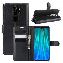 RMPACK Xiaomi Redmi Note 8 Pro Notesz Tok Business Series Kitámasztható Bankkártyatartóval Fekete