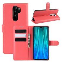RMPACK Xiaomi Redmi Note 8 Pro Notesz Tok Business Series Kitámasztható Bankkártyatartóval Piros
