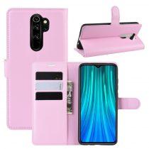 RMPACK Xiaomi Redmi Note 8 Pro Notesz Tok Business Series Kitámasztható Bankkártyatartóval Rózsaszín