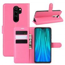 RMPACK Xiaomi Redmi Note 8 Pro Notesz Tok Business Series Kitámasztható Bankkártyatartóval Pink