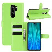 RMPACK Xiaomi Redmi Note 8 Pro Notesz Tok Business Series Kitámasztható Bankkártyatartóval Zöld
