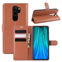 RMPACK Xiaomi Redmi Note 8 Pro Notesz Tok Business Series Kitámasztható Bankkártyatartóval Barna