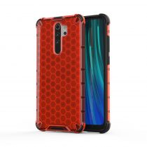 RMPACK Xiaomi Redmi Note 8 Pro Shock-Proof Szilikon Tok Ütésálló Kivitel Honeycomb Style Piros