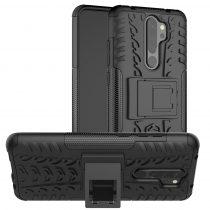 RMPACK Xiaomi Redmi Note 8 Pro Ütésálló Tok Kitámasztható 2in1 Hybrid Fekete