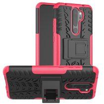 RMPACK Xiaomi Redmi Note 8 Pro Ütésálló Tok Kitámasztható 2in1 Hybrid Pink