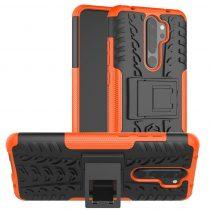 RMPACK Xiaomi Redmi Note 8 Pro Ütésálló Tok Kitámasztható 2in1 Hybrid Narancssárga