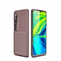 RMPACK Xiaomi Mi Note 10 / Mi Note 10 Pro Tok Szilikon TPU Carbon Fiber - Karbon Minta Barna
