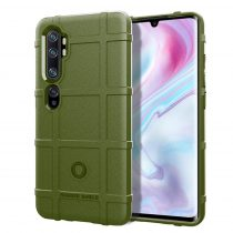 RMPACK Xiaomi Mi Note 10 / Mi Note 10 Pro Ütésálló Tok Anti-Shock Series Rugged Shield KatonaZöld