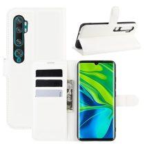 RMPACK Xiaomi Mi Note 10 / Mi Note 10 Pro Notesz Tok Business Series Kitámasztható Bankkártyatartóval Fehér