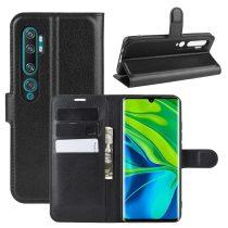 RMPACK Xiaomi Mi Note 10 / Mi Note 10 Pro Notesz Tok Business Series Kitámasztható Bankkártyatartóval Fekete
