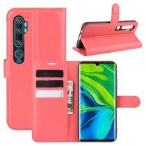 RMPACK Xiaomi Mi Note 10 / Mi Note 10 Pro Notesz Tok Business Series Kitámasztható Bankkártyatartóval Piros