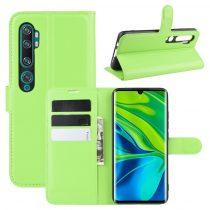 RMPACK Xiaomi Mi Note 10 / Mi Note 10 Pro Notesz Tok Business Series Kitámasztható Bankkártyatartóval Zöld