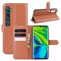 RMPACK Xiaomi Mi Note 10 / Mi Note 10 Pro Notesz Tok Business Series Kitámasztható Bankkártyatartóval Barna