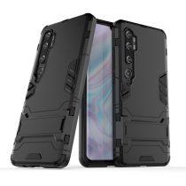 RMPACK Xiaomi Mi Note 10 / Mi Note 10 Pro 2in1 Tok Ütésálló - Kitámasztható TPU Hybrid Fekete