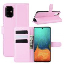 RMPACK Samsung Galaxy A71 Notesz Tok Business Series Kitámasztható Bankkártyatartóval Rózsaszín