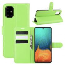 RMPACK Samsung Galaxy A71 Notesz Tok Business Series Kitámasztható Bankkártyatartóval Zöld
