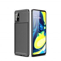 RMPACK Samsung Galaxy A71 Tok Szilikon TPU Carbon Fiber - Karbon Minta Fekete