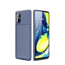 RMPACK Samsung Galaxy A71 Tok Szilikon TPU Carbon Fiber - Karbon Minta Sötétkék