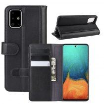 RMPACK Samsung Galaxy A71 Bőrtok Notesz Kártyatartóval Kitámasztható Fekete