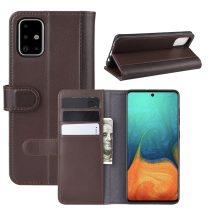 RMPACK Samsung Galaxy A71 Bőrtok Notesz Kártyatartóval Kitámasztható Barna