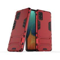 RMPACK Samsung Galaxy A71 2in1 Tok Ütésálló - Kitámasztható TPU Hybrid Piros