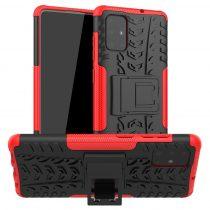 RMPACK Samsung Galaxy A71 Ütésálló Tok Kitámasztható 2in1 Hybrid Piros