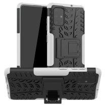RMPACK Samsung Galaxy A71 Ütésálló Tok Kitámasztható 2in1 Hybrid Fehér