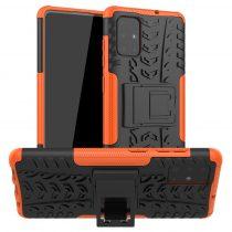 RMPACK Samsung Galaxy A71 Ütésálló Tok Kitámasztható 2in1 Hybrid Narancssárga